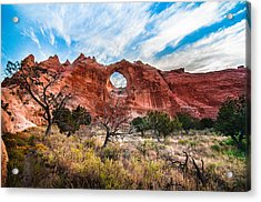 Window Rock At Sunrise Acrylic Print
