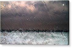 Window Sea Storm Acrylic Print by Stelios Kleanthous