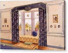 Window Seat Encased By Luxurious Acrylic Print