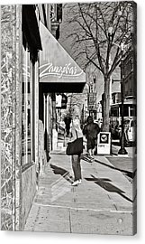 Window Shopping In Lancaster Acrylic Print by Trish Tritz