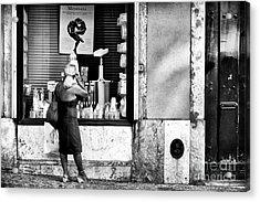 Window Shopping In Lisbon Acrylic Print by John Rizzuto