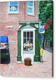 Window Shopping Newburyport Acrylic Print by Anthony Ross