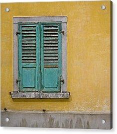 Window Shutter Acrylic Print by Heiko Koehrer-Wagner