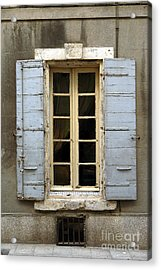 Window Shutters In Europe Acrylic Print
