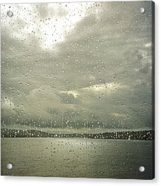 Acrylic Print featuring the photograph Window Tears by Sally Banfill