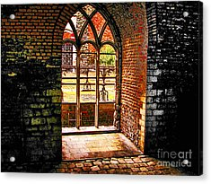 Window To Courtyard Acrylic Print by Rick Bragan