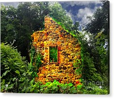 Window To Her Soul Acrylic Print by Becky Lupe