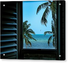 Window To Smathers Beach Acrylic Print