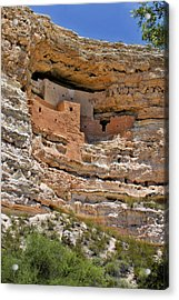 Window To The Past - Montezuma Castle Acrylic Print by Christine Till