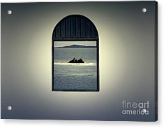 Window View Of Desert Island Puerto Rico Prints Lomography Acrylic Print by Shawn O'Brien