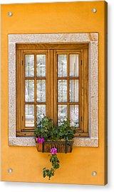 Window With Flowers Acrylic Print
