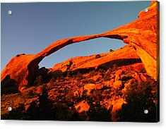 Windows Arch In The Morning Acrylic Print by Jeff Swan