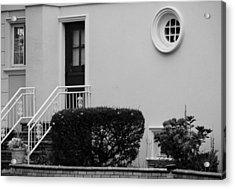 Windows In The Round In Black And White Acrylic Print by Rob Hans