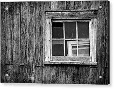 Windows In The Window Acrylic Print by Jeff Burton