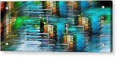 Windows Into The Blue Acrylic Print