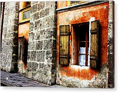 Windows Into The Past Acrylic Print by Alison Tomich