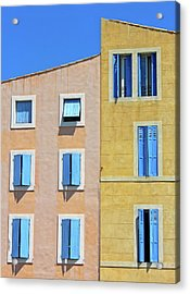 Acrylic Print featuring the photograph Windows Martigues Provence France by Dave Mills