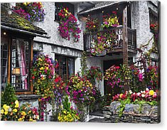 Windows Of Flowers Acrylic Print