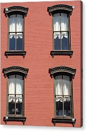 Acrylic Print featuring the photograph Window's Of Hudson Ny by Ira Shander