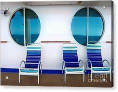 Windows Reflecting The Sea Acrylic Print