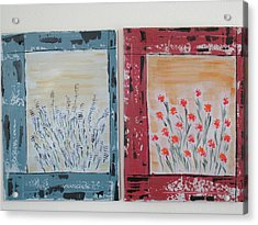 Acrylic Print featuring the painting Windows To The Basques by Sharyn Winters