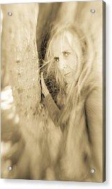 Windows To The Soul Acrylic Print by Nancy Taylor