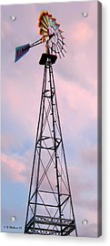 Acrylic Print featuring the photograph Windpump by Brian Wallace