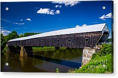 Windsor - Cornish Covered Bridge. Acrylic Print