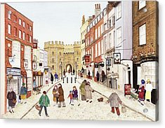 Windsor Castle, 1989 Watercolour On Paper Acrylic Print by Gillian Lawson
