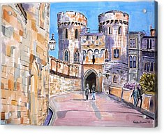 Acrylic Print featuring the painting Windsor Castle by Geeta Biswas