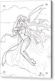 Windsprite Sketch Acrylic Print by Coriander  Shea