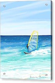 Windsurf Acrylic Print by Veronica Minozzi