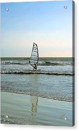 Windsurfing Acrylic Print by Ben and Raisa Gertsberg