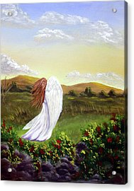 Windswept Angel Acrylic Print