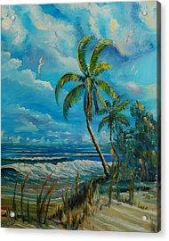Windswept Beach Acrylic Print