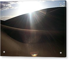 Acrylic Print featuring the photograph Windswept Curves II by Carlee Ojeda
