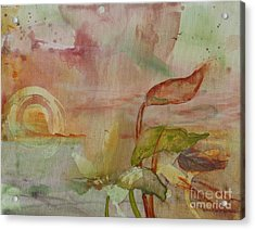 Acrylic Print featuring the painting Windswept by Robin Maria Pedrero