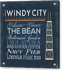 Windy City Acrylic Print by Aubree Perrenoud