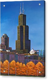 Windy City Autumn Acrylic Print by Johnathan Harris