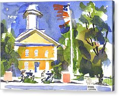 Windy Day At The Courthouse Acrylic Print by Kip DeVore