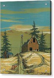 Windy Knoll Acrylic Print by John Wyckoff