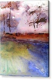 Windy Acrylic Print by Marsden Burnell