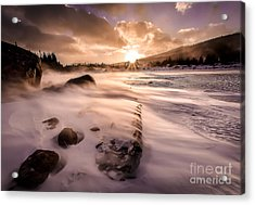 Windy Morning Acrylic Print by Steven Reed