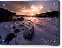 Acrylic Print featuring the photograph Windy Sunrise by Steven Reed