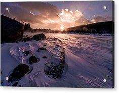 Windy Sunrise Acrylic Print by Steven Reed