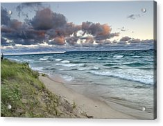 Windy Sunrise Acrylic Print by Thomas Pettengill