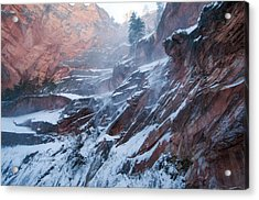 West Fork Windy Winter Acrylic Print