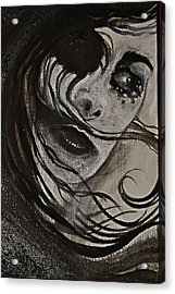 Acrylic Print featuring the painting Windyblack by Sandro Ramani