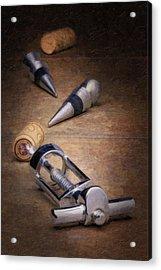 Wine Accessory Still Life Acrylic Print by Tom Mc Nemar