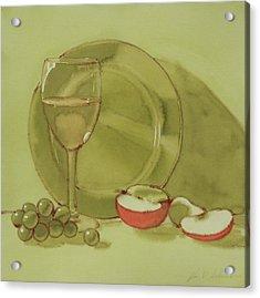Wine And Apple Acrylic Print